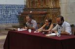 Professores Maurício Matos (IHAC/UFB)A), Nancy Vieira (instituto de Letras/UFBA) e Sandro Ornellas (Instituto de Letras/UFBA)